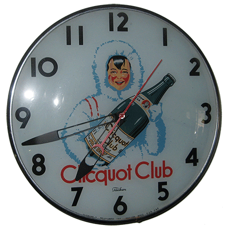 clicquot club clock-auction