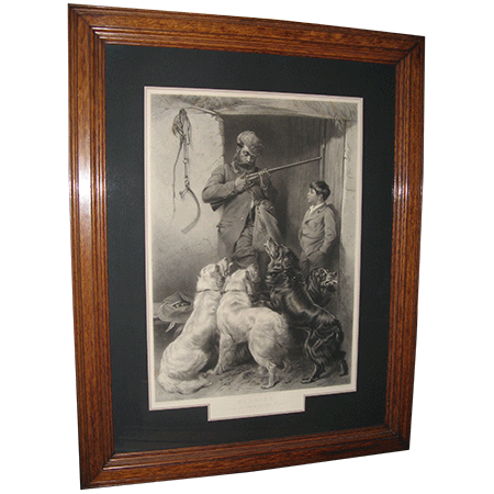 framed lithograph antique estate sale