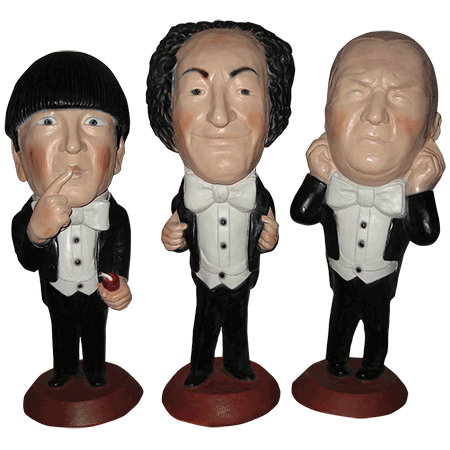 three stooges figure set
