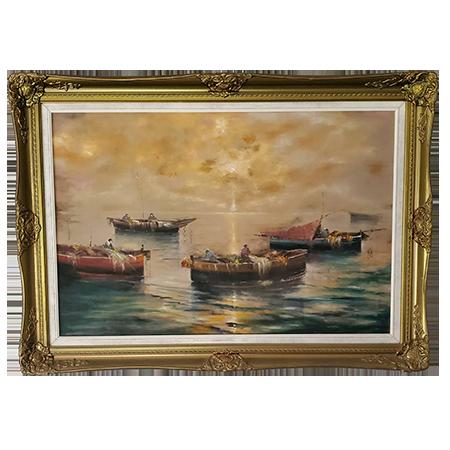 1900 Oil-Painting Gold Frame Artist-Ashton Estate Sales